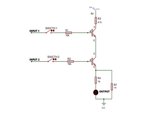 and gate using transistor