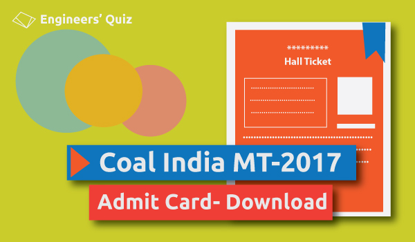 COAL INDIA ADMIT CARD