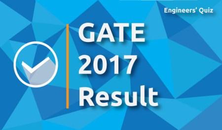 gate 2017 result
