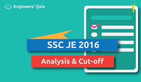 SSC JE 2016 PAPER ANALYSIS CUT OFF