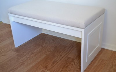 DIY no-sew bench cushion