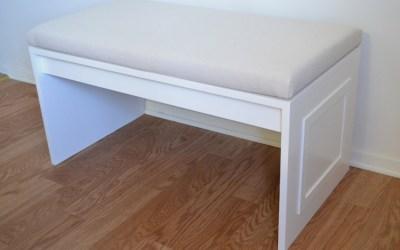 DIY no-sew bench cushion