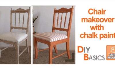 Chair makeover with chalk paint