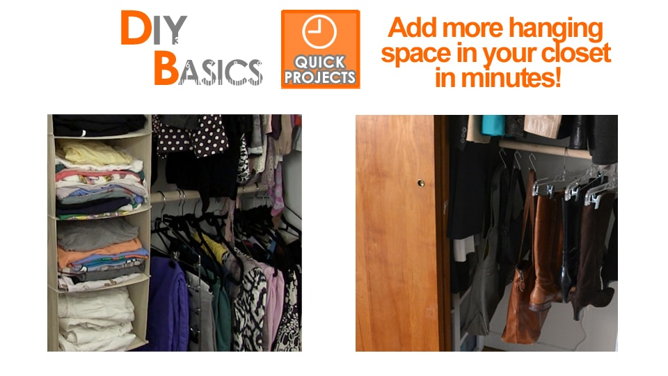 Easy way to maximize closet space
