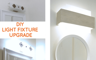 Bathroom Lighting: Quick fix to update a dated bathroom vanity light