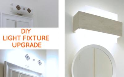 Bathroom Lighting: Quick fix to update a dated bathroom vanity light