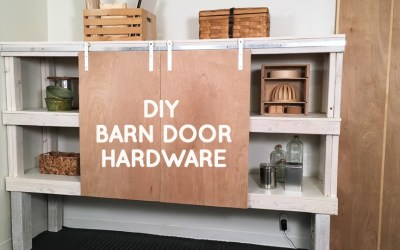 How to make DIY barn door hardware