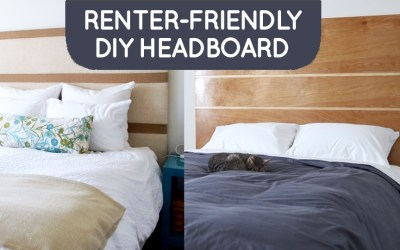 One DIY Headboard with Two Different Looks