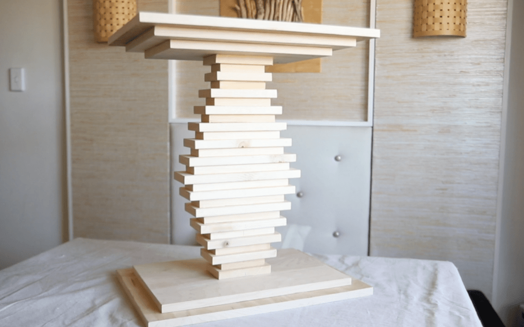 How to build a small bedside table