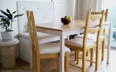IKEA chair hack: furniture makeover with a little bit of paint and fabric