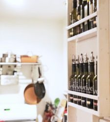 "Engineer Your ""Vertical"" Space: tiny kitchen storage idea"