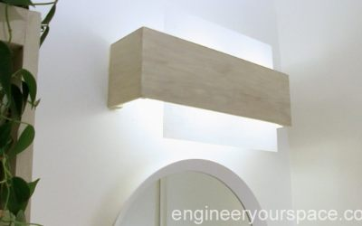 Camouflaging a dated bathroom light fixture