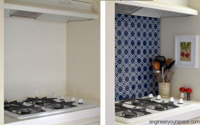 DIY Temporary Kitchen Backsplash
