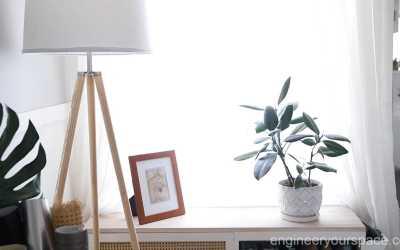 Making a tripod lamp cord disappear