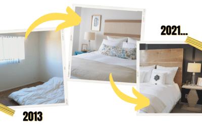 Small Bedroom ideas for renters – DIY Bedroom evolution