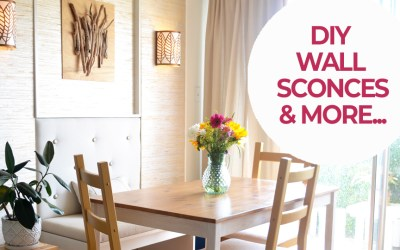 Dining Room mini makeover with DIY wall sconces