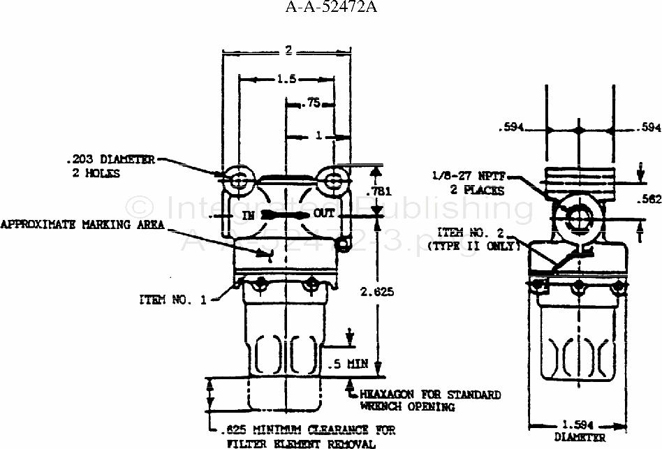 A-A-52472 Filter, Fluid, Pressure, Automotive Fuel (10 Gph