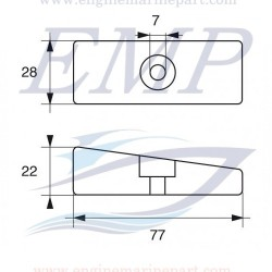 Anodo Honda EMP 41109-ZW1-003 AL