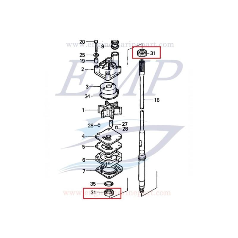 Paraolio 23x36x6 asse trasmissione Honda 91251-ZW1-B04