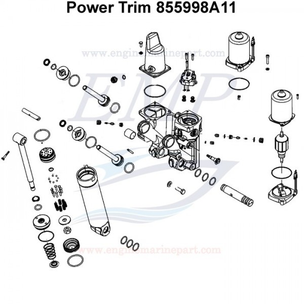Power trim Mercury / Mariner 855998A11