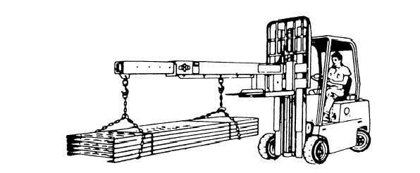 Figure 8-12.Crane boom attached to the forklift.