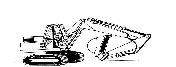 Figure 9-52.Backhoe bucket adjustment digging positions.