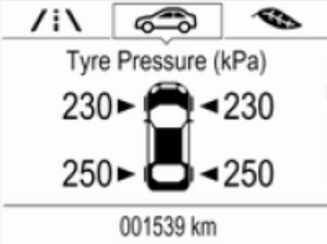 opel Vauxhall tyre tpms reset