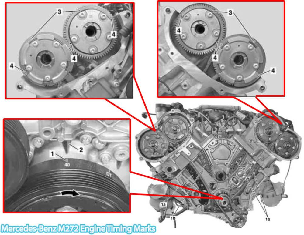 medium resolution of 2006 2011 mercedes benz ml350 m272 engine timing marks ford 272 timing marks diagram