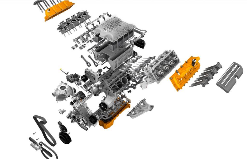 Mopar's Hellcat Engine Produces 707 Horsepower