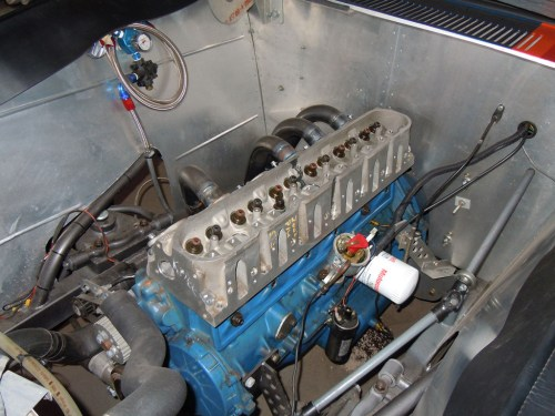 small resolution of 1962 ford falcon with inline six motor with head made from two lsx heads