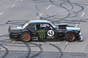Ken Block drives a AWD first generation Ford Mustang