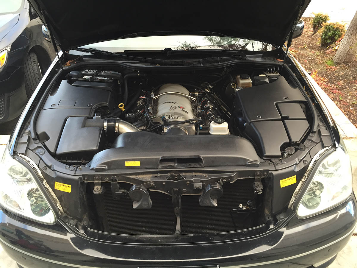 hight resolution of ls3 v8 inside lexus ls430 engine bay