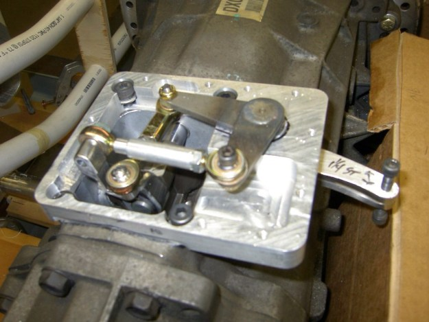 shift linkage for six-speed transmission for V12 From Two Toyota I6 Engines
