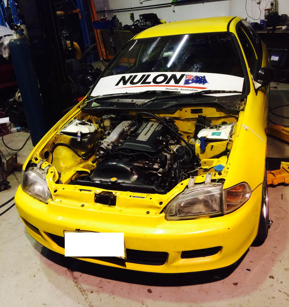 medium resolution of civic with a nissan s15 powertrain