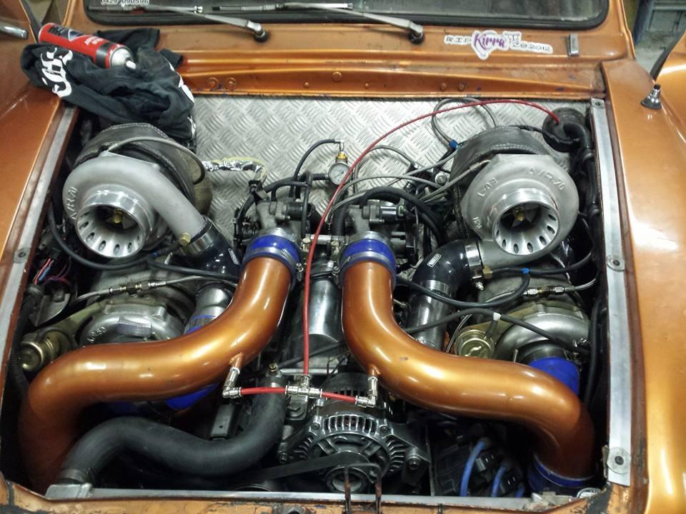 Austin Lancer With A Quad Turbo Buick V6 Engine