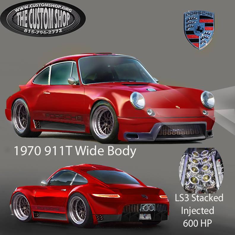 1970 Porsche 911 custom with a 600 HP LS3