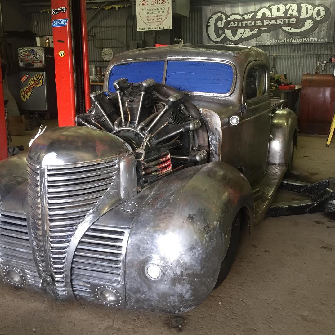 hight resolution of plymouth truck with a 757 ci jacobs r 755 a2 radial aircraft engine
