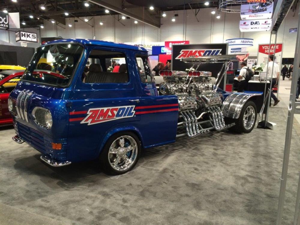 medium resolution of 1962 ford econoline truck with four supercharged v8s