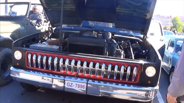 Chevy Truck with 14.2 L Scania Semi Truck Diesel V8