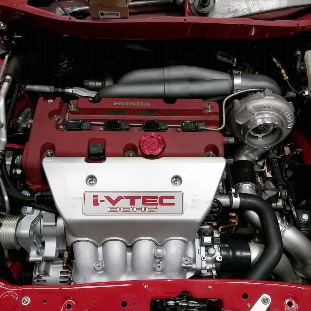 medium resolution of the awd system has been pieced together from the honda parts bin the five speed manual transmission is sourced from a 2005 honda cr v and is connected to a