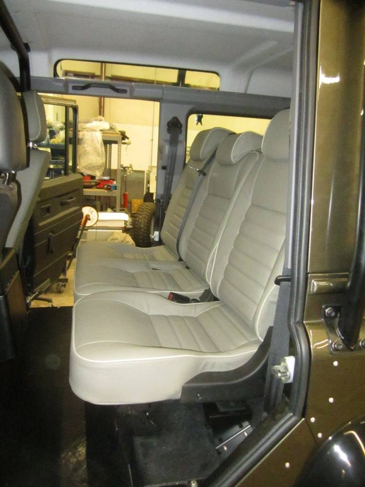 back seats in a 1993 Land Rover NAS Defender with a LS3