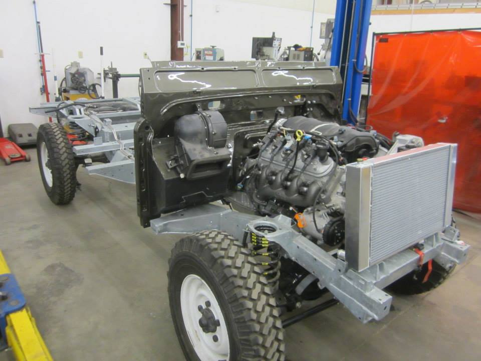 1993 Land Rover NAS Defender chassis with a LS3