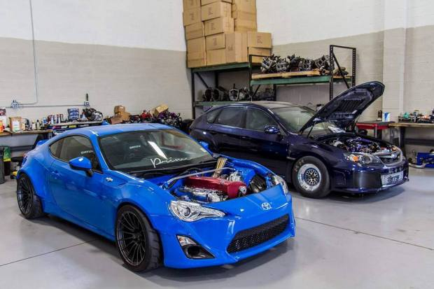 AWD Toyota FRS with a RB26