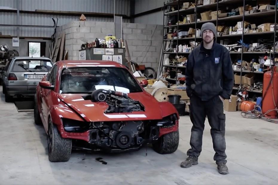 Mazda RX-8 with a Cummins 6BT inline-six diesel