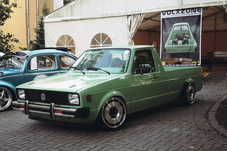 VW Caddy with a mid-engine Audi V8