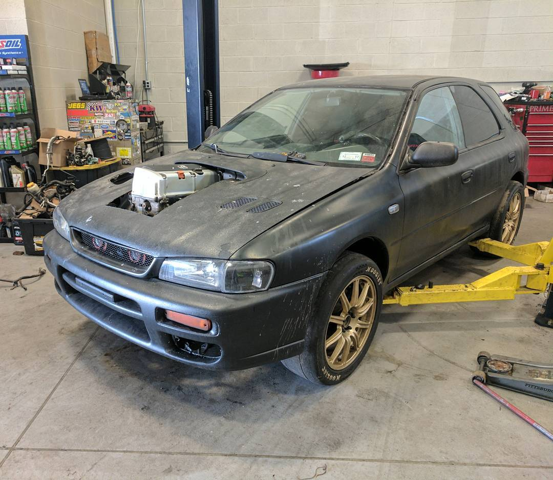 hight resolution of prime motorsport s subaru impreza wagon called project toilet bowl used to be powered by a 800 horsepower ej25 flat four however the company wanted to do