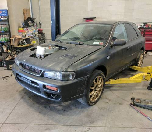 small resolution of prime motorsport s subaru impreza wagon called project toilet bowl used to be powered by a 800 horsepower ej25 flat four however the company wanted to do