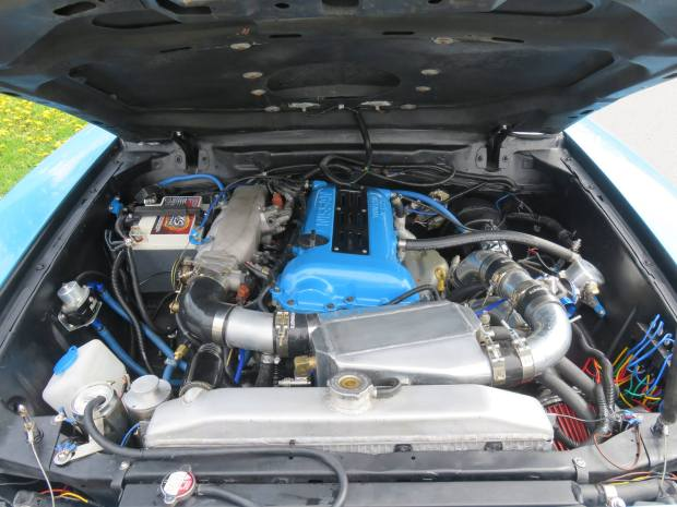 1978 Mustang with a SR20DET Inline-Four