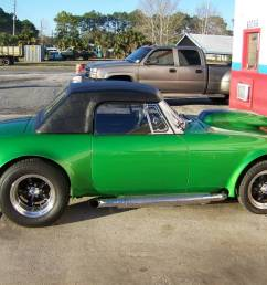 this 1974 mgb is for sale in yulee florida with a 22 500 asking price under the hood sits a 383 ci chevy v8 connected to a turbo 350 automatic  [ 1200 x 900 Pixel ]