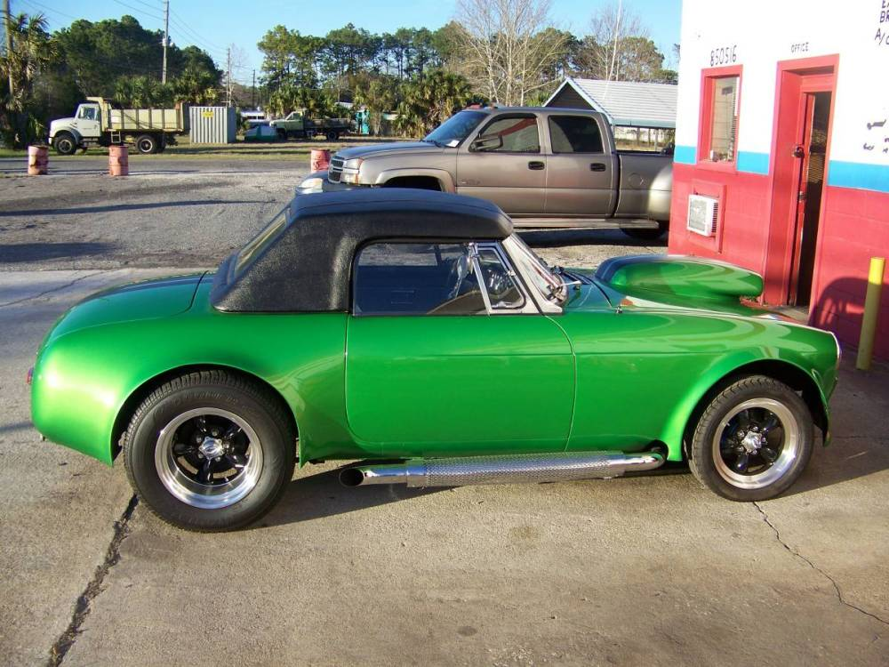 medium resolution of this 1974 mgb is for sale in yulee florida with a 22 500 asking price under the hood sits a 383 ci chevy v8 connected to a turbo 350 automatic